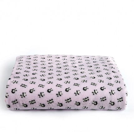 Κουβέρτα Fleece Μονό 160X220 Kentia Versus Panda Ροζ