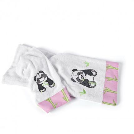 Παιδικές Πετσέτες (Σετ 2 Τμχ) Kentia Versus Panda Ροζ