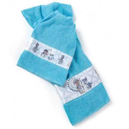 Παιδικές Πετσέτες (Σετ 2 Τμχ) Kentia Loft Apatsi Μπλε