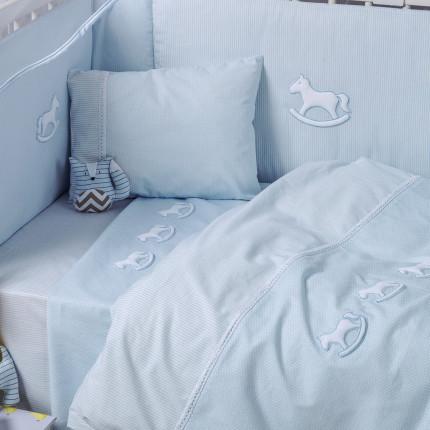 Παπλωματοθήκη Κούνιας (Σετ) 100X140 Kentia Loft Bambino 19 Μπλε
