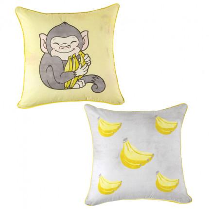 Διακοσμητική Μαξιλαροθήκη 45X45 Kentia Loft Banana Κίτρινο