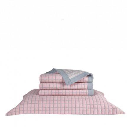 Μαξιλαροθήκη Oxford 50X70+5 Kentia Loft Kiana 14 Ροζ