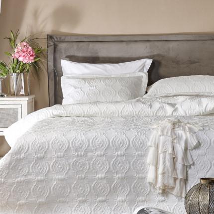 Νυφικό Κουβερλί (Σετ) King Size 270X250 Kentia Serenity Olanda Λευκό