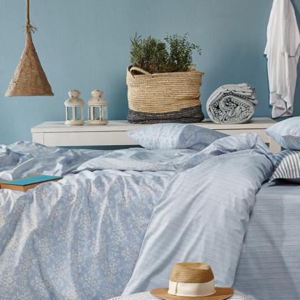 Σεντόνια Ημίδιπλα (Σετ) 190X270 Kentia Versus Ornella 19 Μπλε Χωρίς Λάστιχο