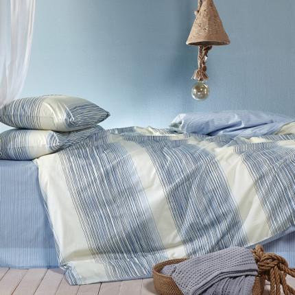 Σεντόνια Ημίδιπλα (Σετ) 190X270 Kentia Versus Rigel 01 Γαλάζιο Χωρίς Λάστιχο
