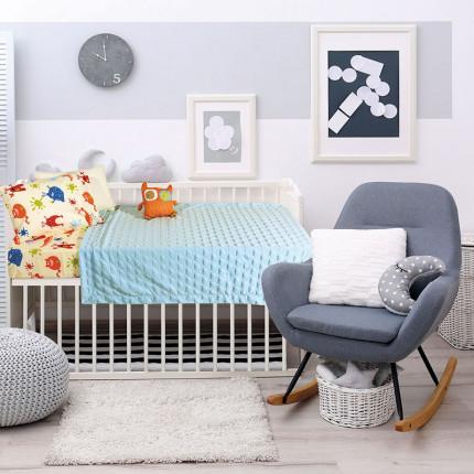 Κουβέρτα Fleece Κούνιας 110x150 Das Home Relax 6363 Σιελ