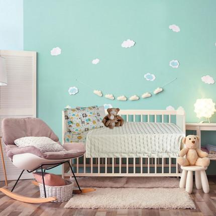 Κουβέρτα Fleece Κούνιας 110x150 Das Home Relax 6365 Εκρου