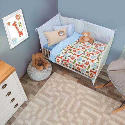 Κουβέρτα Fleece Κούνιας 110x150 Das Home Relax 6548 Πορτοκαλι/Λαχανι