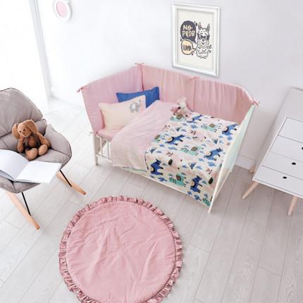 Κουβέρτα Fleece Κούνιας 110x150 Das Home Relax 6549 Σιελ/Ροζ