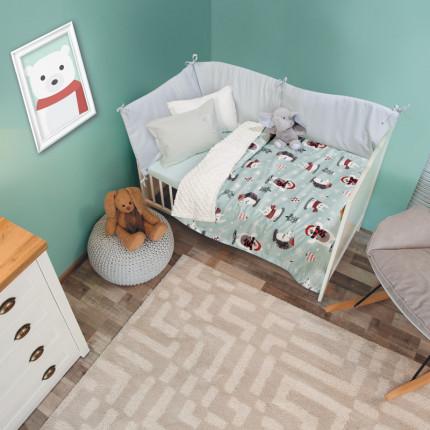 Κουβέρτα Fleece Κούνιας 110x150 Das Home Relax 6551 Μεντα
