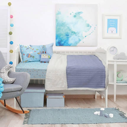 Κουβέρτα Πλεκτή Κούνιας 110x150 Das Home Relax 6412 Γαλαζιο