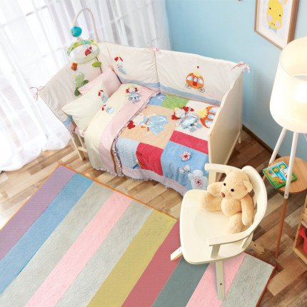 Κουβερλί Κούνιας 110x150 Das Home Dream Embroidery 6511 Ροζ