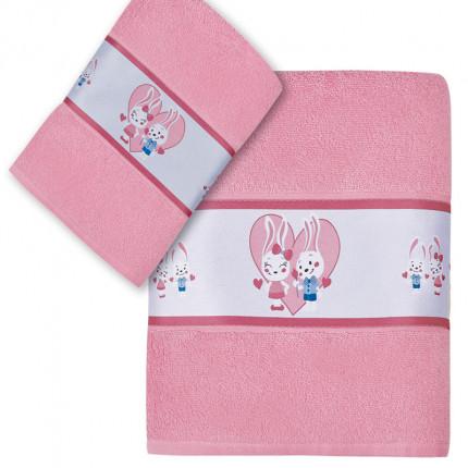 Βρεφικές Πετσέτες (Σετ 2 Τμχ) Kentia Versus Barny Ροζ