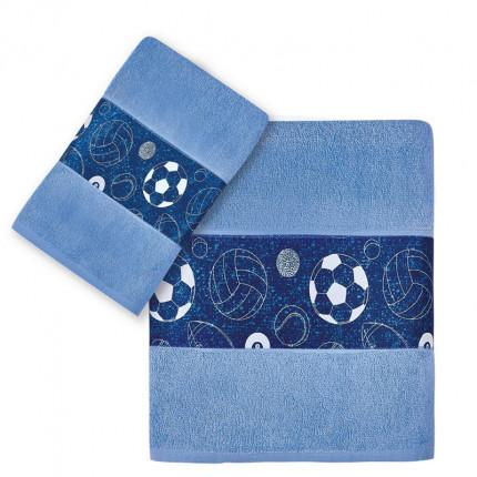 Παιδικές Πετσέτες (Σετ 2 Τμχ) Kentia Versus University Μπλε
