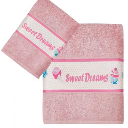 Παιδικές Πετσέτες (Σετ 2 Τμχ) Kentia Loft Candybar Ροζ