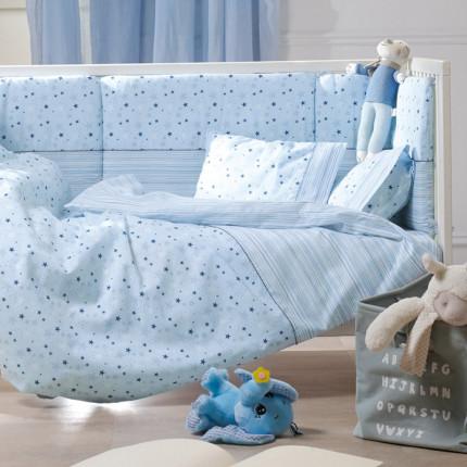 Παπλωματοθήκη Κούνιας (Σετ) 100X140 Kentia Loft Piccolo Μπλε