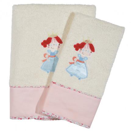 Βρεφικές Πετσέτες ( Σετ 2 Τμχ) Das Home Dream Embroidery 6511 Ροζ