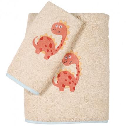Βρεφικές Πετσέτες (Σετ 2 Τμχ) Das Home Smile Embroidery 6559 Μπεζ
