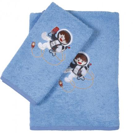 Βρεφικές Πετσέτες (Σετ 2 Τμχ) Das Home Smile Embroidery 6560 Γαλαζιο
