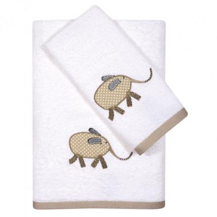 Βρεφικές Πετσέτες (Σετ 2 Τμχ) Das Home Fun Embroidery 6568 Λευκό