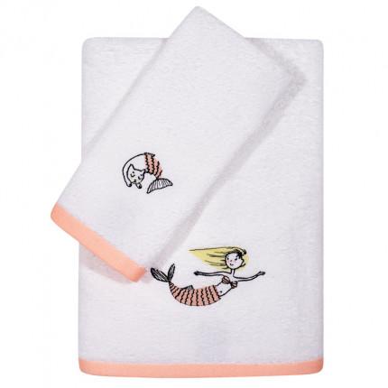 Βρεφικές Πετσέτες (Σετ 2 Τμχ) Das Home Fun Embroidery 6569 Λευκό