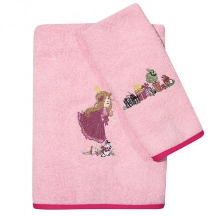 Βρεφικές Πετσέτες (Σετ 2 Τμχ) Das Home Smile Embroidery 6576 Ροζ