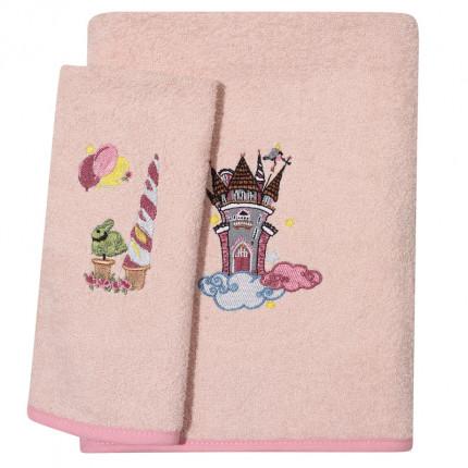 Βρεφικές Πετσέτες (Σετ 2 Τμχ) Das Home Smile Embroidery 6577 Σομον
