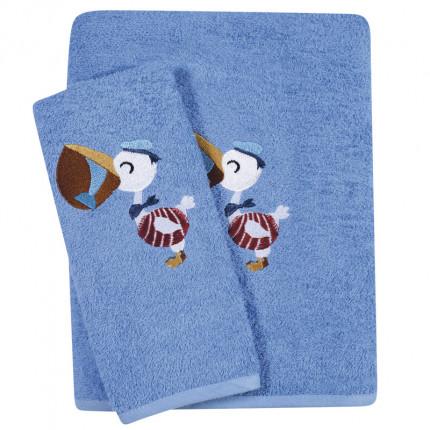 Βρεφικές Πετσέτες (Σετ 2 Τμχ) Das Home Smile Embroidery 6582 Μπλε