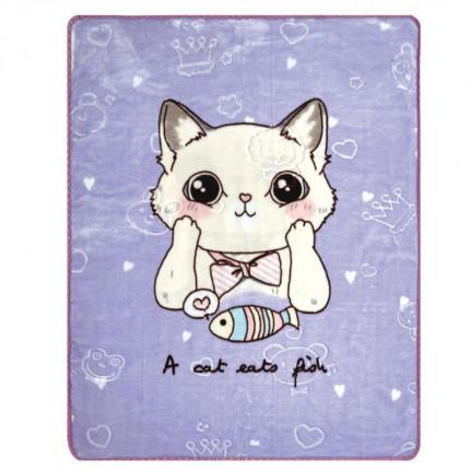 Κουβέρτα Βελουτέ Κούνιας 100X130 Kentia Loft Cat