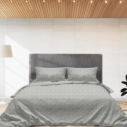 Φανελένια Σεντόνια Διπλά (Σετ) 100% Βαμβάκι 920 Grey