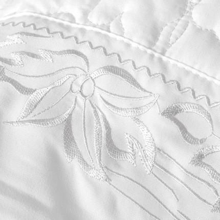 Κουβερλί Υπέρδιπλο (Σετ 7 Τμχ) Rythmos Erato Λευκο Χωρίς Λάστιχο