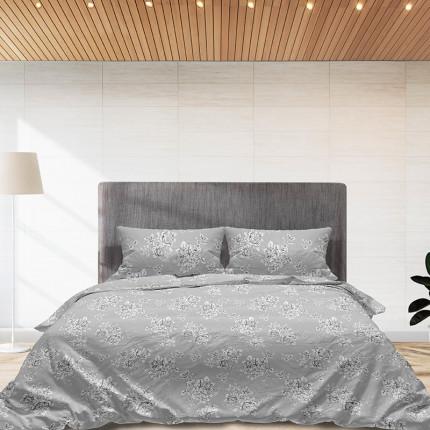 Φανελένια Σεντόνια Υπέρδιπλα (Σετ) 100% Βαμβάκι 960 Grey