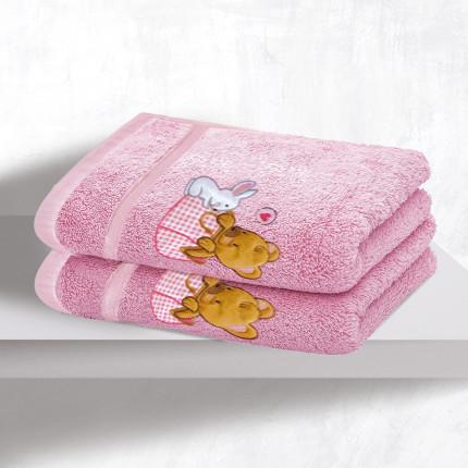 Βρεφικές Πετσέτες (Σετ 2 Τμχ) Sb Home Bear Girl