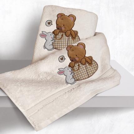Βρεφικές Πετσέτες (Σετ 2 Τμχ) Sb Home Bear