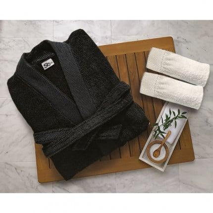 Μπουρνούζι Με Γιακά Sb Home Elegante Black