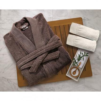 Μπουρνούζι Με Γιακά Sb Home Elegante Grey
