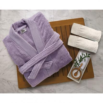 Μπουρνούζι Με Γιακά Sb Home Elegante Lilac