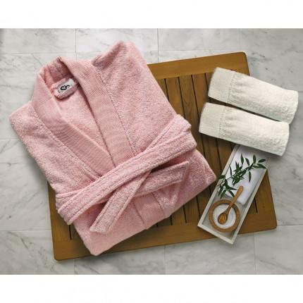 Μπουρνούζι Με Γιακά Sb Home Elegante Pink