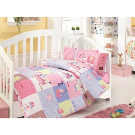 Σεντόνια Κούνιας (Σετ) 100x150 HB0519 Happy Baby Palamaiki Χωρίς Λάστιχο