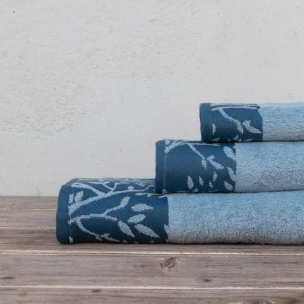 Πετσέτες Μπάνιου (Σετ 3 Τμχ) Kocoon Madlen Blue