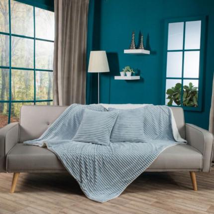 Κουβέρτα Καναπέ 130X160 Teoran Stripe 4