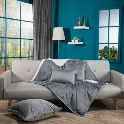 Κουβέρτα Καναπέ 130X160 Teoran Velvet 11