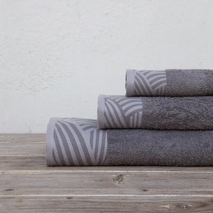 Πετσέτες Μπάνιου (Σετ 3 Τμχ) Kocoon Yarn Gray