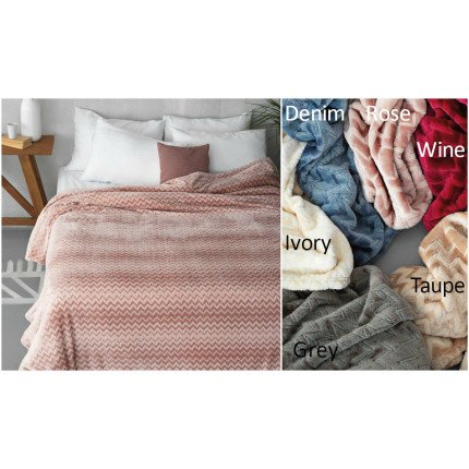 Κουβέρτα fleece Μονή 160x240 ZIGZAG Palamaiki