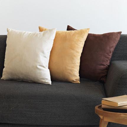 Διακοσμητική Μαξιλαροθήκη 45x45 Sb Home Alcantara Brown Καφε