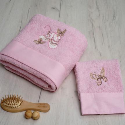 Βρεφικές Πετσέτες (Σετ 2 Τμχ) Sb Home Ballerina Ροζ