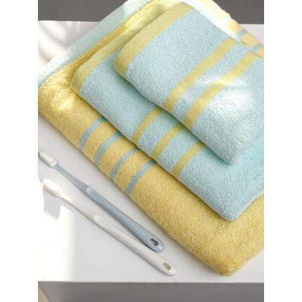 Πετσέτες Μπάνιου (Σετ 3 Τμχ) Palamaiki Towels Collection Contrast Yellow/Ciel