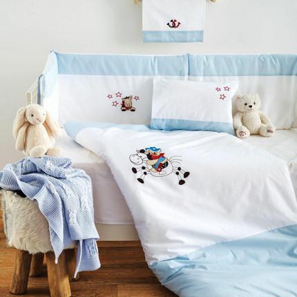 Σετ Κούνιας (3 Τμχ) Sb Home Cow Boy Μπλε