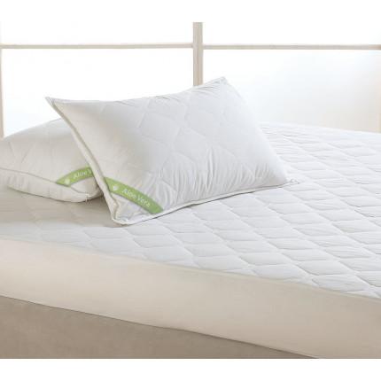Καπιτόνε Κάλυμμα Στρώματος Υπέρδιπλο 170X200+30 Dormibene Aloe Vera Palamaiki White Comfort