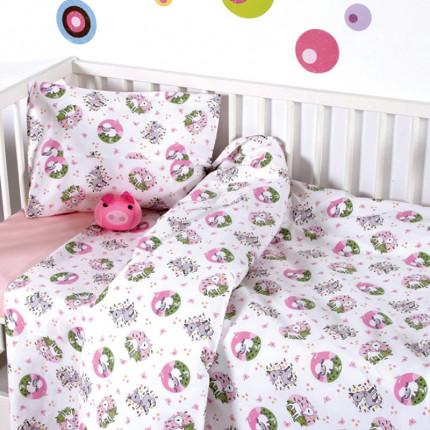 Παπλωματοθήκη Σετ Κούνιας 110x150 Sb Home Elvin Pink Ροζ